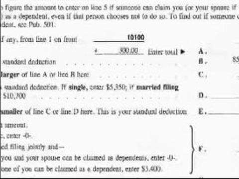 How to plete a 1040EZ Tax Form How to File a 1040EZ Dependents Worksheet