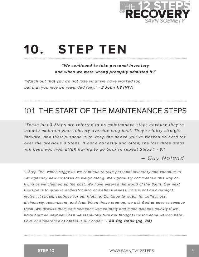 12Step Quality Information and Tools for a 12 Step Program