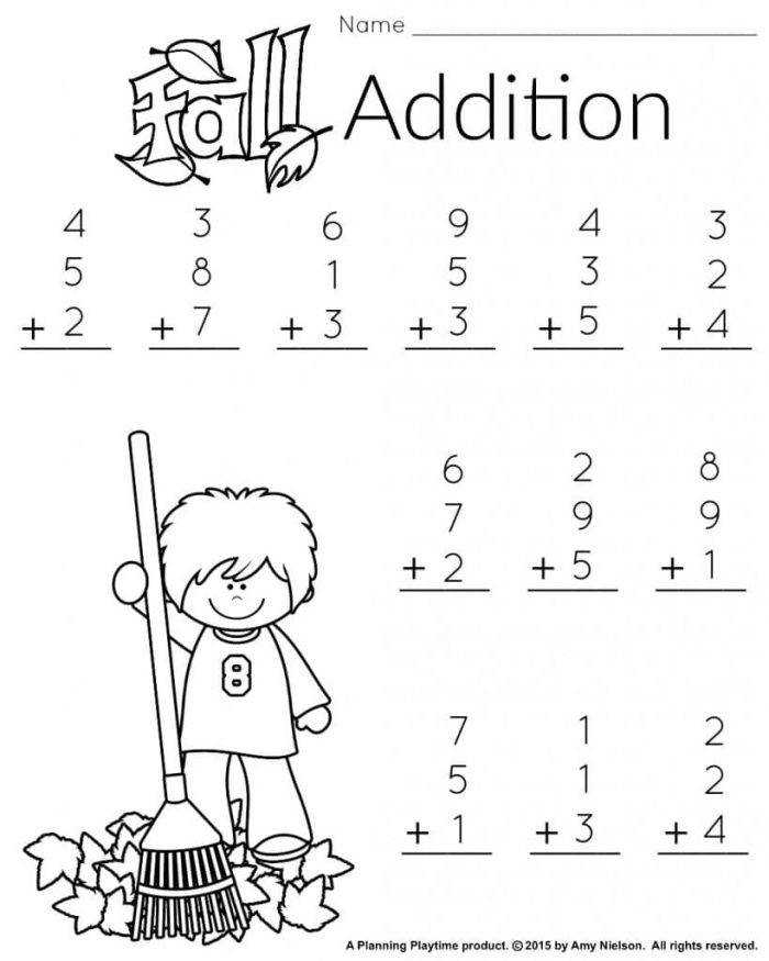 Math Worksheets For 1st Grade s Math Worksheets For 1st Grade Fall Addition 2 819x1024 Capture