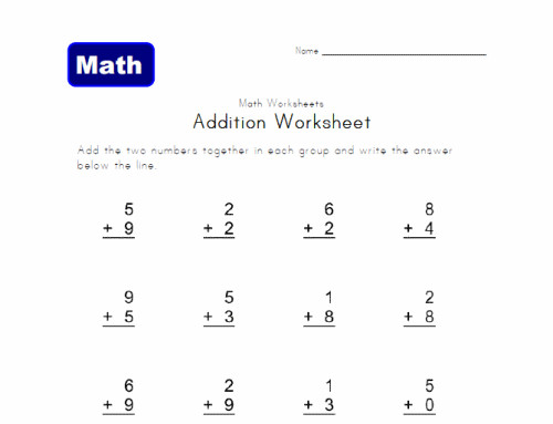 1st Grade line Math Worksheets