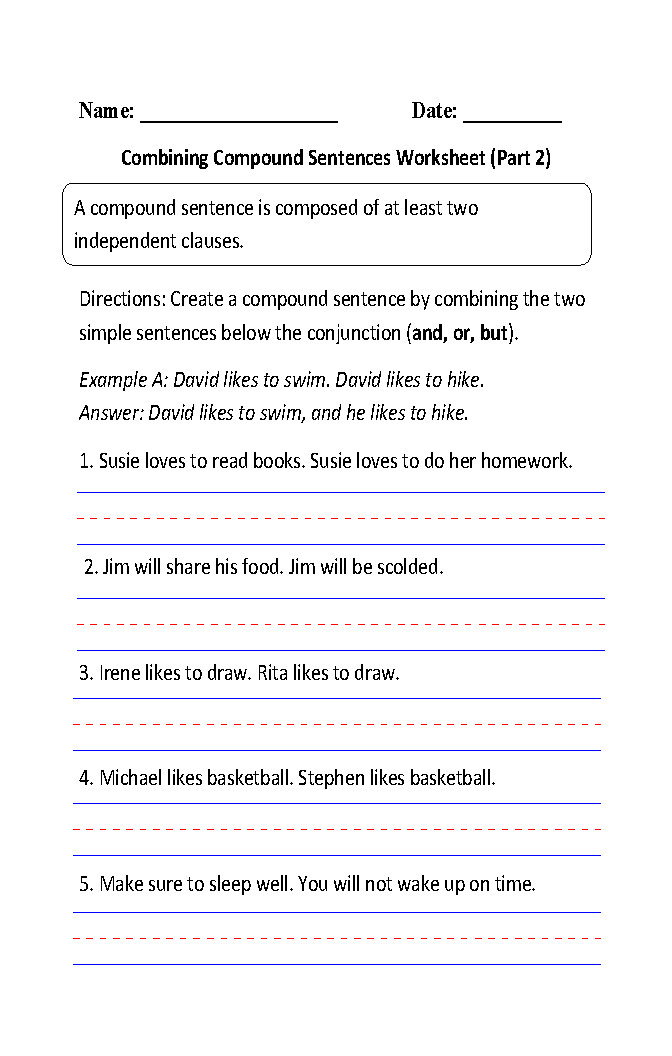 Writing pound Sentences Worksheet