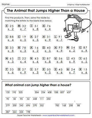 Multiplication Worksheets 2 Digit