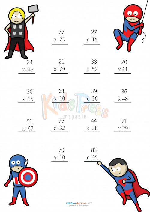 Multiplication Worksheet – 2 Digit times 2 Digit 1 · Get