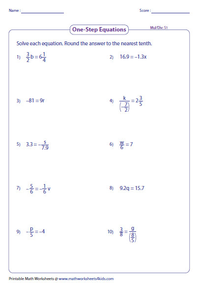 Sheet 1 · Sheet 2 · Sheet 3 · Download All Related Equation Worksheets