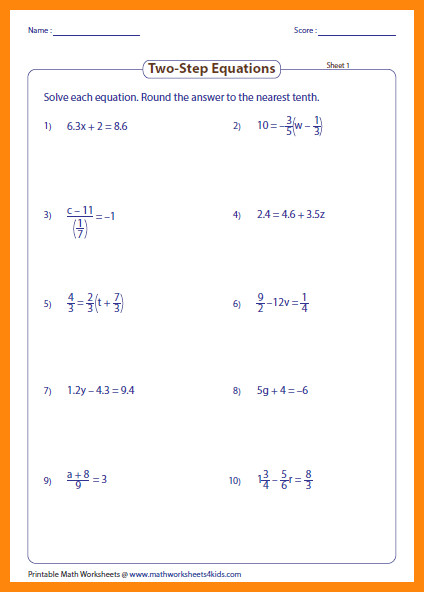 two step equations worksheet mixed large caption