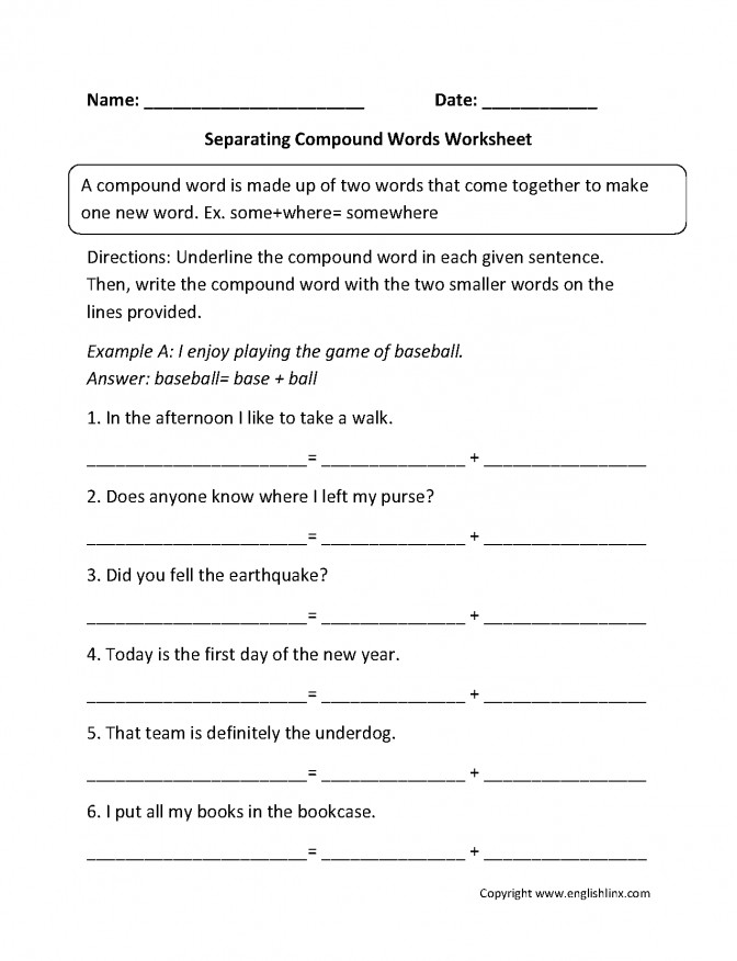 2nd Grade English Worksheets Homeschooldressage. Englishlinx Pound Words Worksheets Multiple Meaning 2nd Grade Separating Work. Worksheet. Pound Words Worksheet For 2nd Grade At Mspartners.co