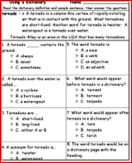 Reading prehension Multiple Choice Worksheets Printables