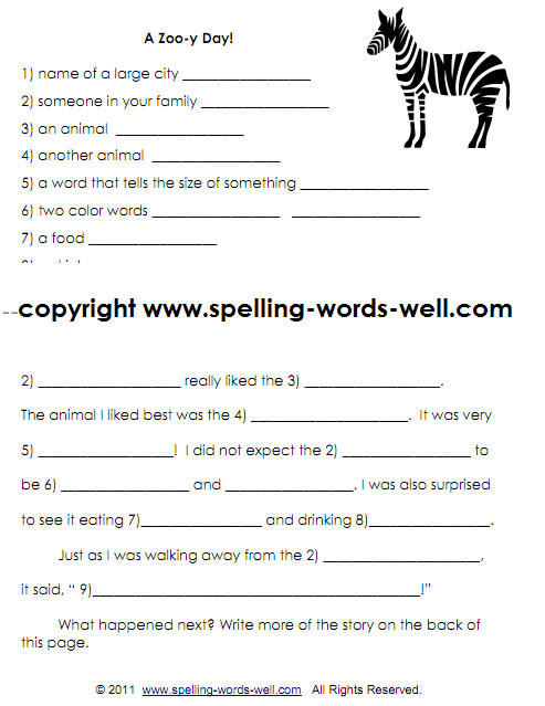 second grade writing worksheet