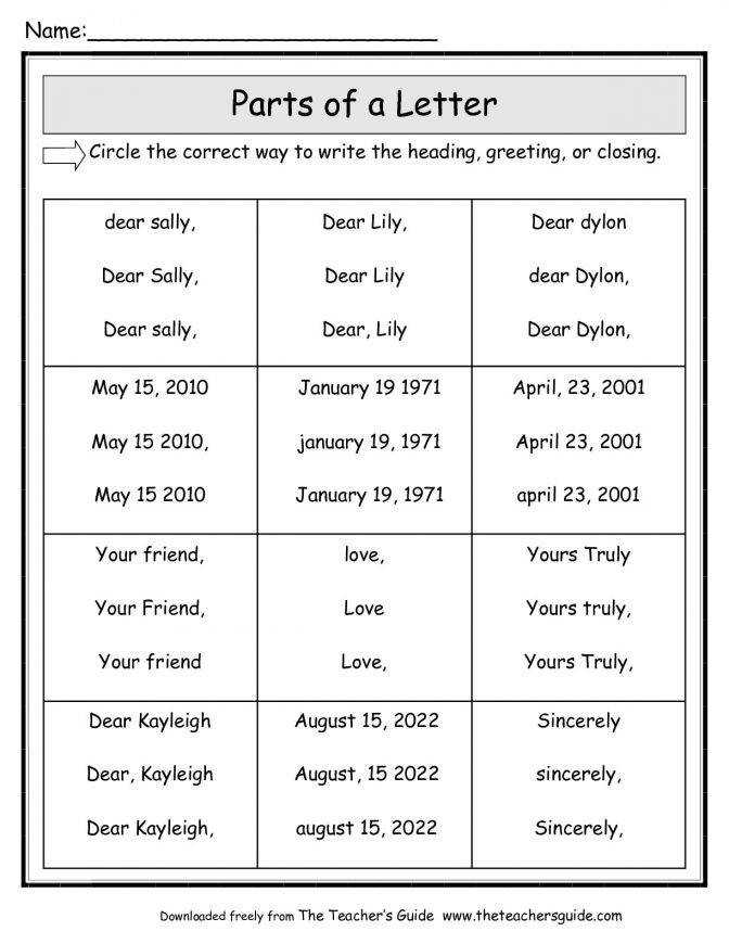 Parts A Friendly Letter Worksheet Second Grade Writing 2nd Lesson Plans 5134e5fd05b00a98a946f 2nd Grade Writing