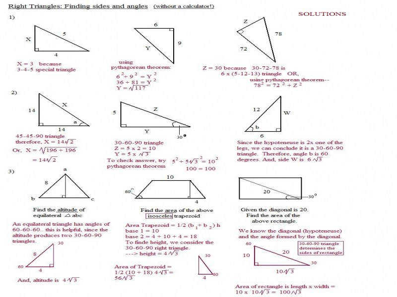 Math Plane – Right Triangle Review