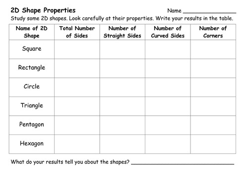 Image result for 2d and 3d worksheets