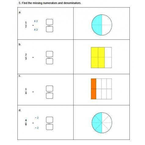 Fractions Worksheets 3rd 4th Grade Equivalent Fractions 4