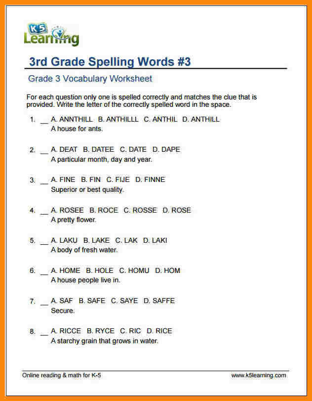 3rd grade grammar worksheets. Black Bedroom Furniture Sets. Home Design Ideas