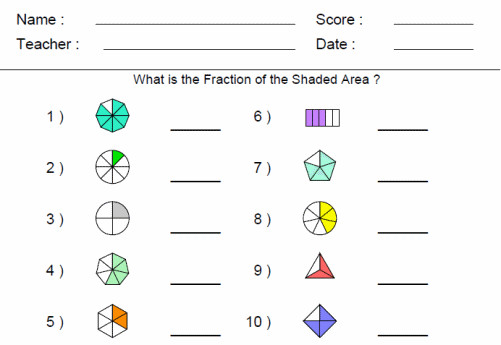 Visual Fraction Practice Worksheet