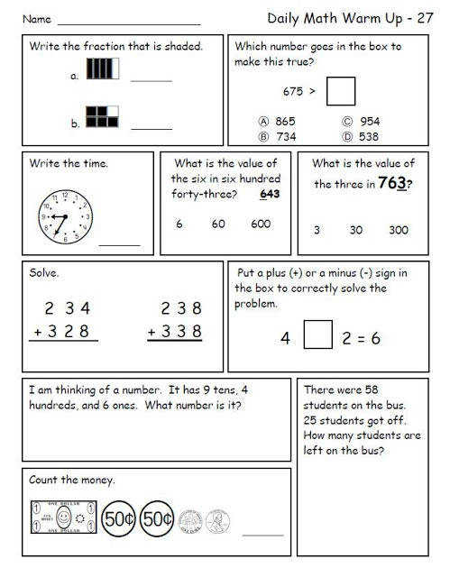 mon Core 3rd Grade Math Worksheets shots mon Core 3rd Grade Math Worksheets Daily Wrm 27