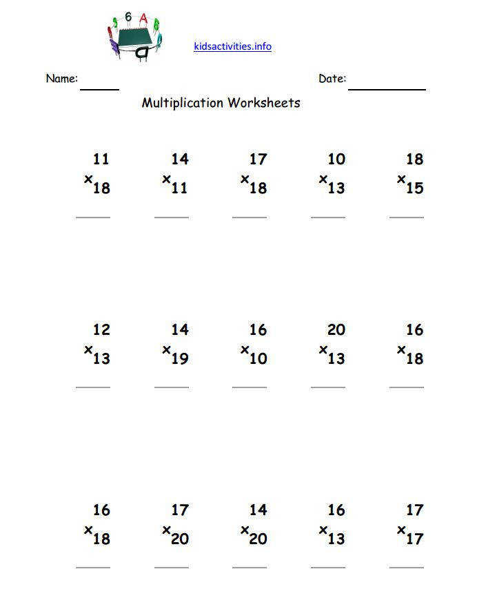 Multiplication Worksheet 3rd Grade Delibertad · Multiplication Worksheets