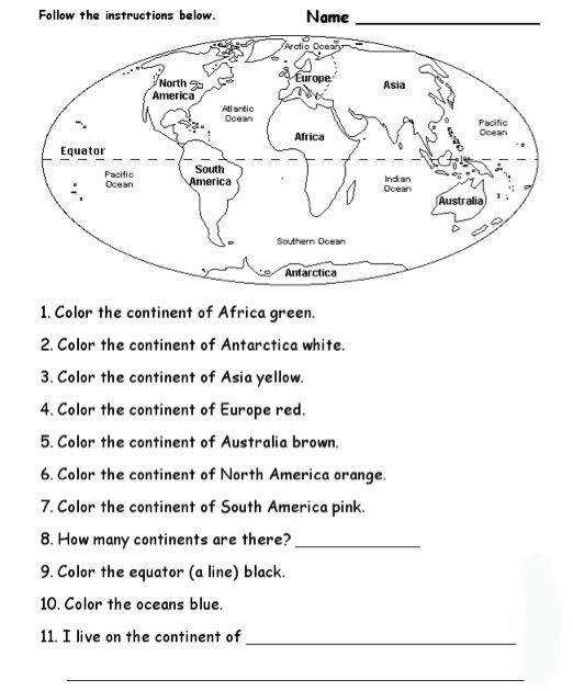 ALEX Lesson Plan Which Continent Is This Landforms WorksheetMap WorksheetsSocial Stu s