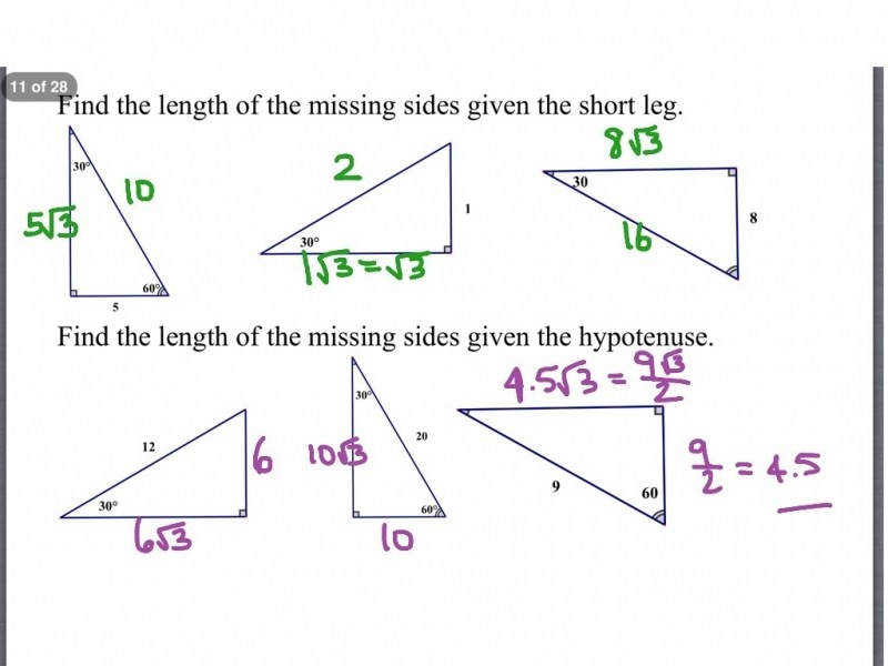 """9 photos of the """"45 45 90 Triangles Worksheet Answers"""""""