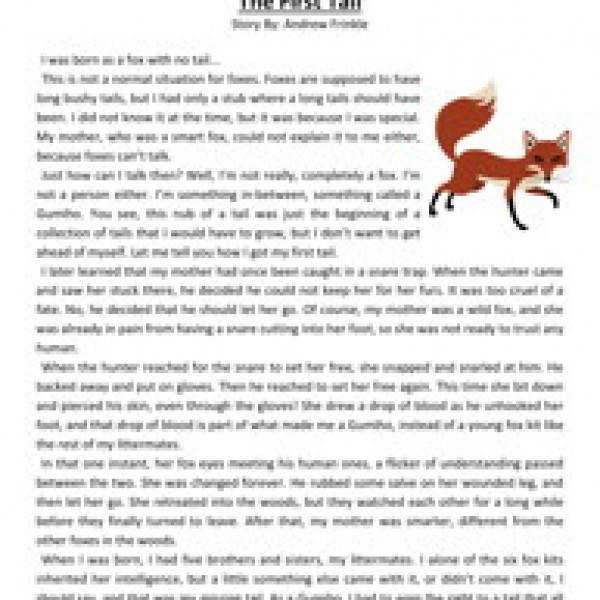 the first tail fourth grade reading prehension worksheet