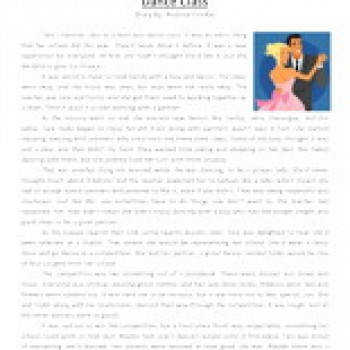 dance class fourth grade reading prehension worksheet 350x350