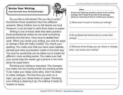 4th Grade Writing Worksheets