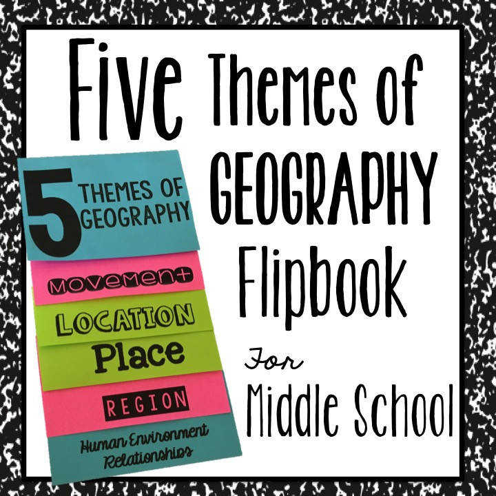 An Interactive Notebook Foldable to teach the Five Themes of Geography Perfect for Middle Schoolers