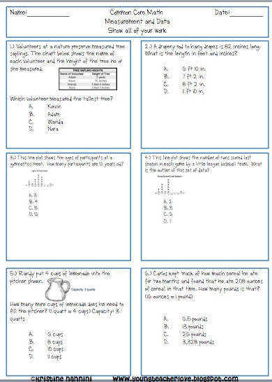 5th Grade mon Core Math Homework or Morning work Printable Problems over 100 word