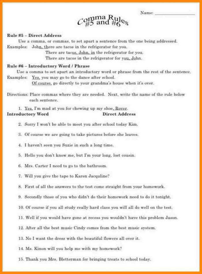 5th Grade Grammar Worksheets 5th Grade Grammar Worksheets 5 Mreichert Kids Worksheet Math For 8