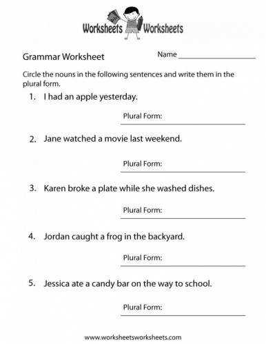 Free Printable English Worksheets For First Graders Worksheets Adcedu Collections Language Arts Worksheets For st