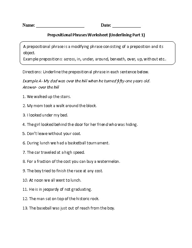 5th Grade Grammar Worksheets Homeschooldressage