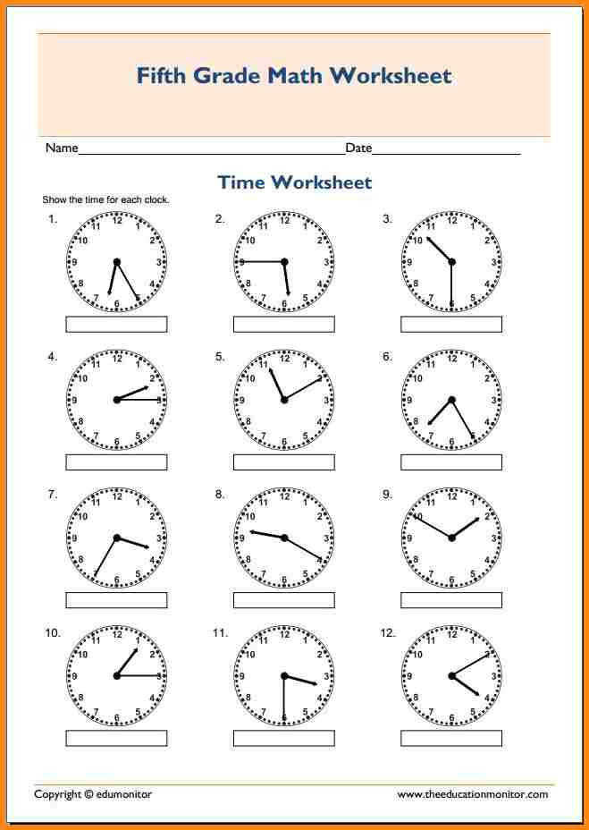 5th grade math worksheets math worksheets for fifth