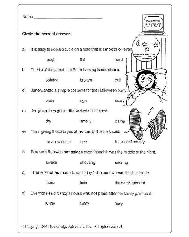 Test Your Word Power 3 1 Vocabulary Practice Worksheet for Grade 3 JumpStart