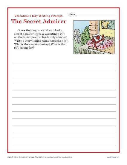 Valentine s Day Writing Prompt The Secret Admirer