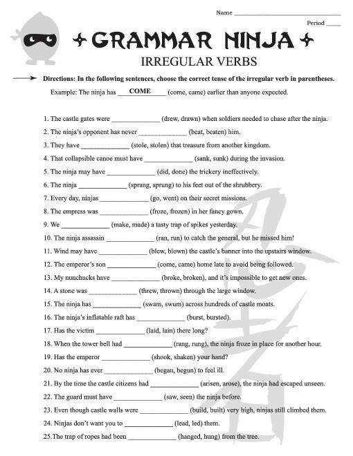 Free Grammar Worksheets 6th Grade Pinterest Saferbrowser Yahoo Image Search Results