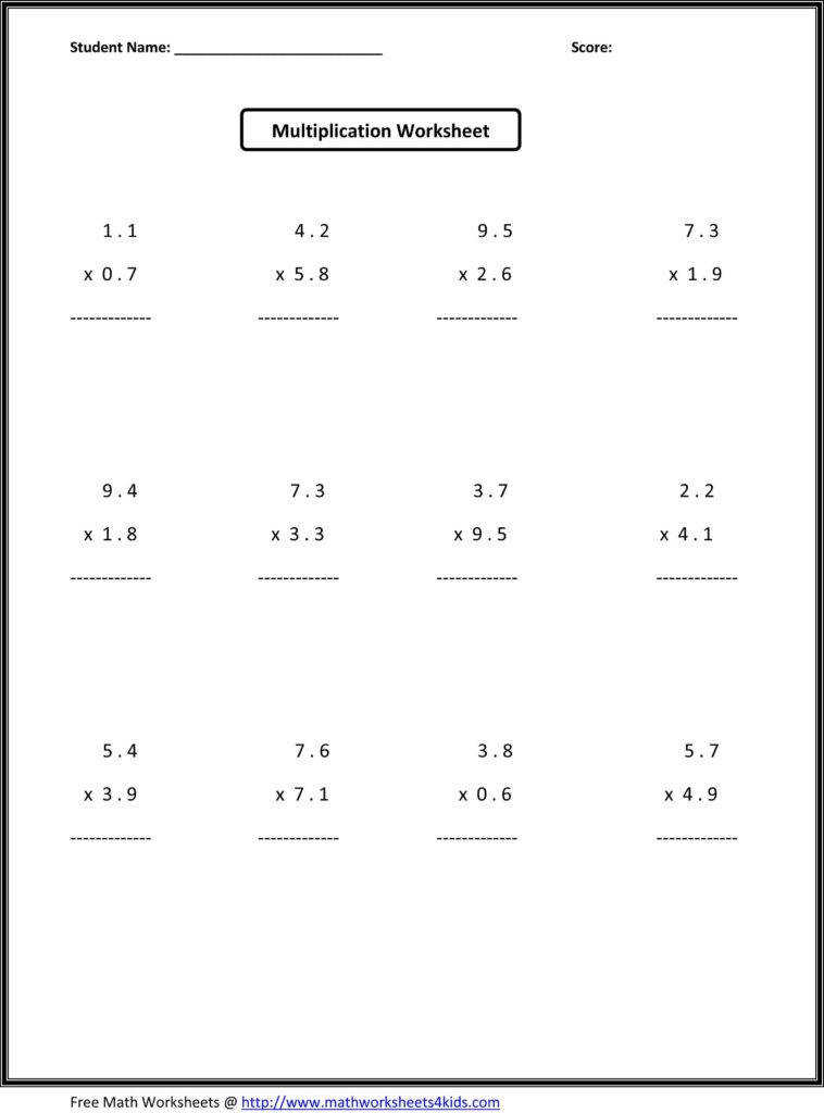 Math Practice for 6th Grade Worksheets and 7th Grade Math Worksheets Value Worksheets Absolute Value