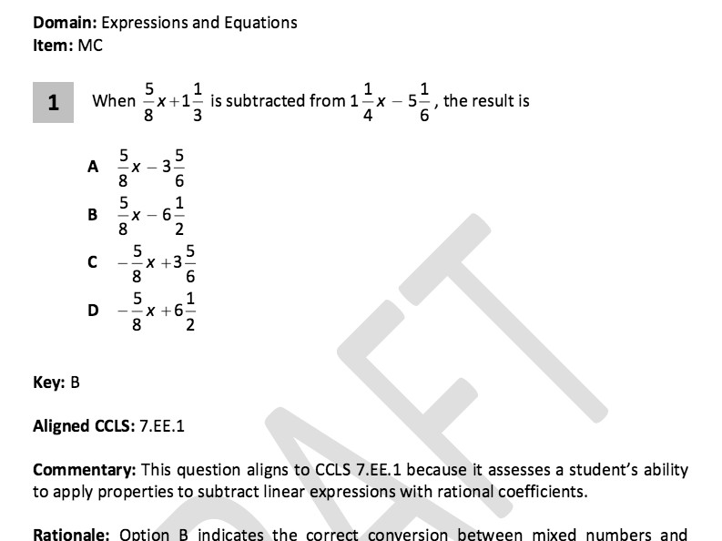 mon core example problems for 7th graders