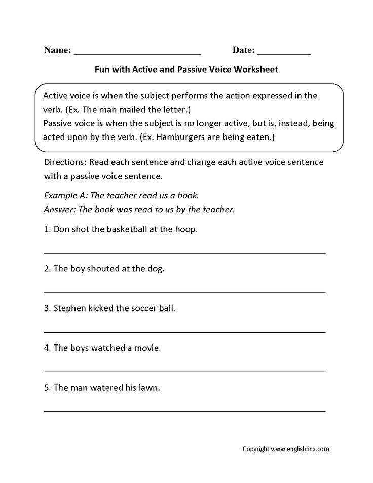 Fun with Active and Passive Voice Worksheets