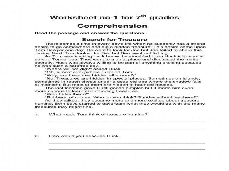 Collections Seventh Grade English Worksheets Math Worksheet