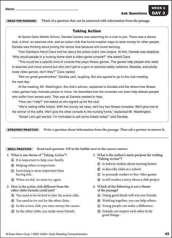 Ideas of French Reading prehension Worksheets Grade 6 Sample