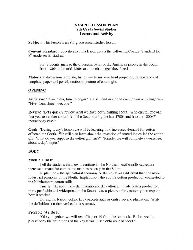 5 Best 6th Grade Social Stu s Worksheets 8th Lesson Plan Social Stu s Lesson Plans