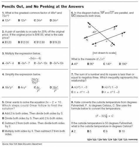 8Th Grade Math Worksheets With Answers