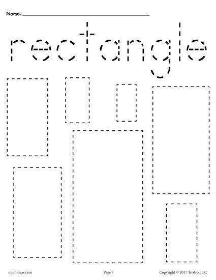 12 FREE Shapes Tracing Worksheets