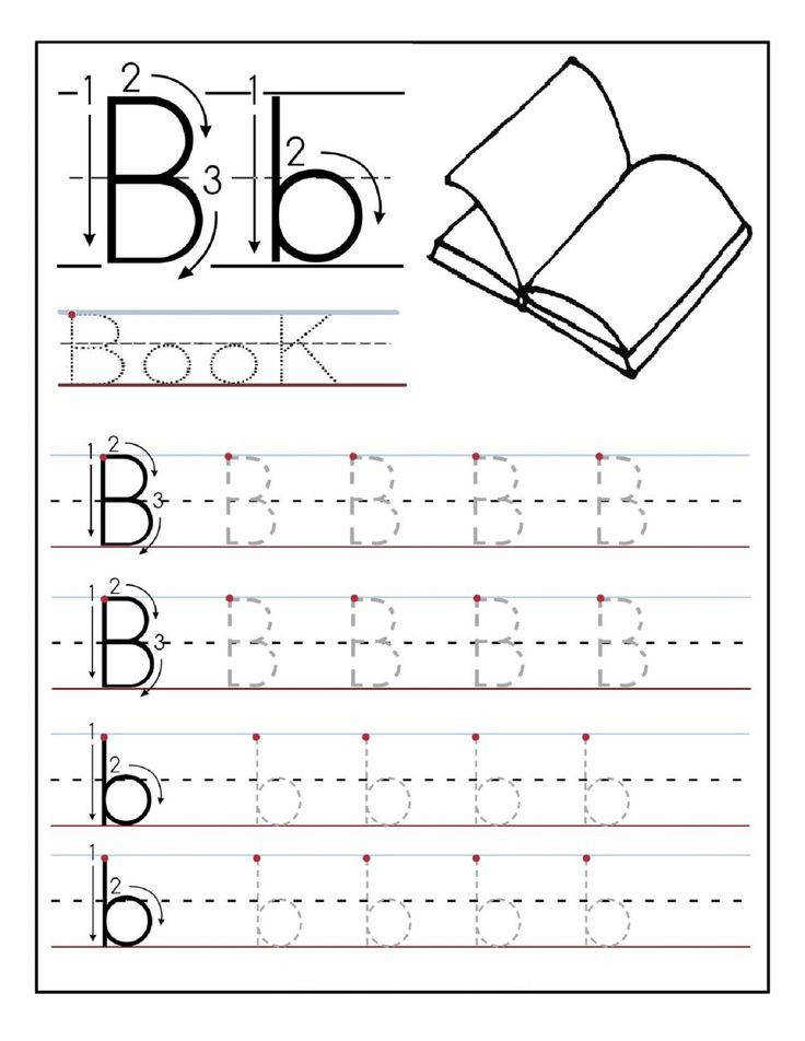 Free Printable letter B tracing worksheets for preschoolee writing practice worksheets for graders