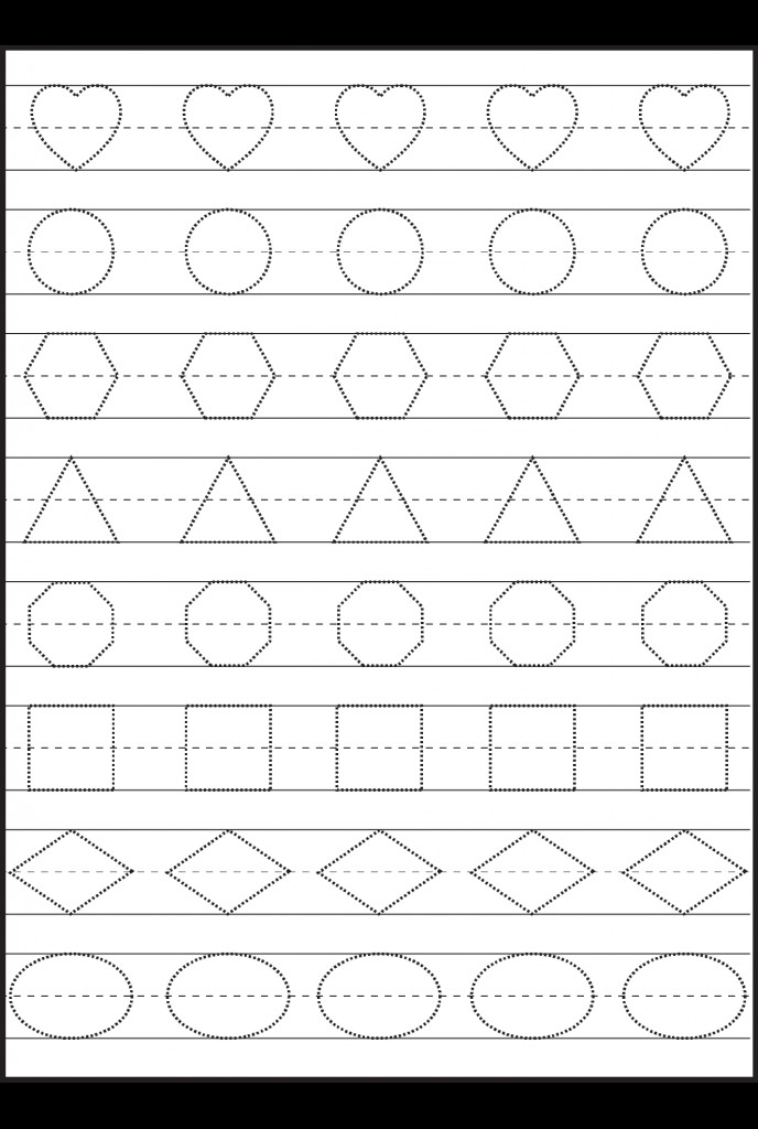 Coloring Pages Printable plete Shaped Free Printable Preschool Activities Amazing Love Round Polygon Triangle Square