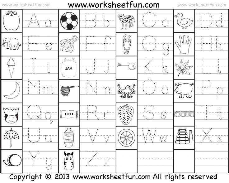 Capital and Small Letter Tracing Worksheet FREE Printable Worksheets