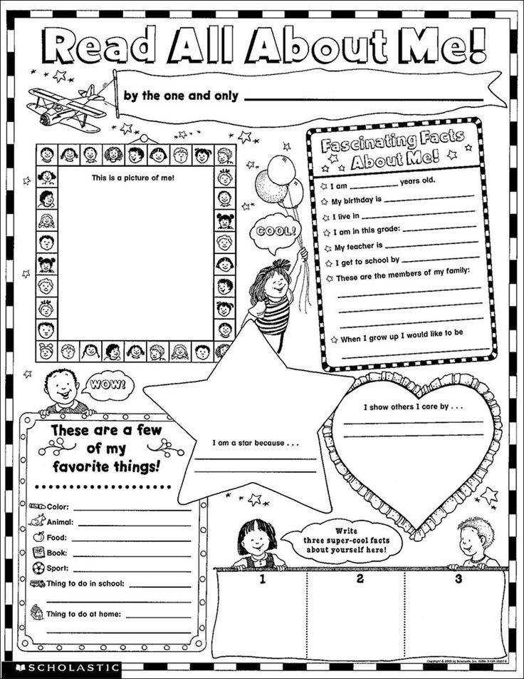 17 Best ideas about All About Me Worksheet on Pinterest