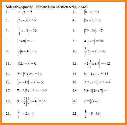 absolute value worksheets ws absolute value 1 pv 6 absolute value worksheets