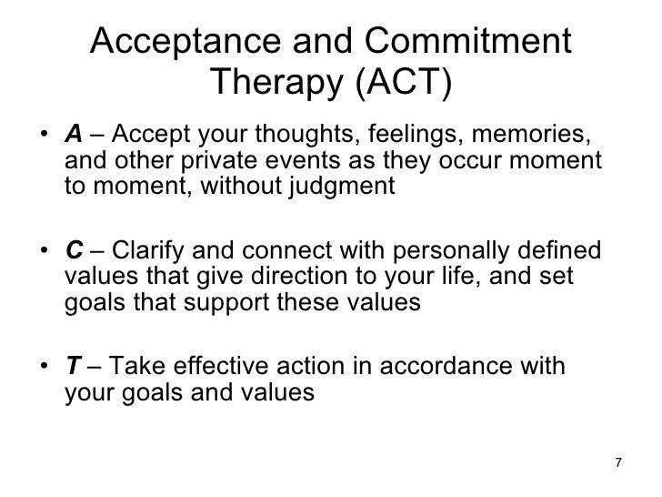 Acceptance and mitment Therapy