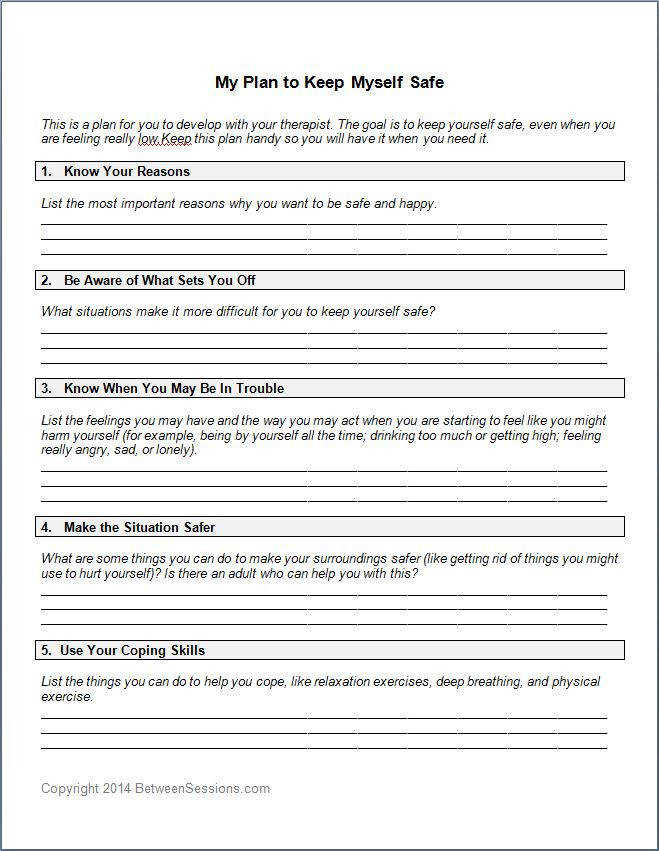 Between Sessions Therapy Activities For Teens Counseling Worksheets