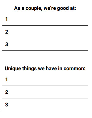 shared qualities therapy worksheets
